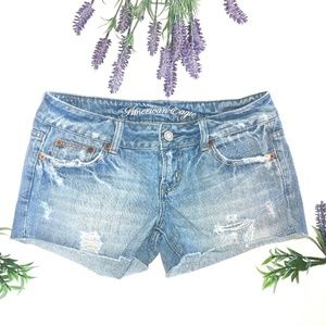 American Eagle Distressed Denim Jean Shorts Size 2
